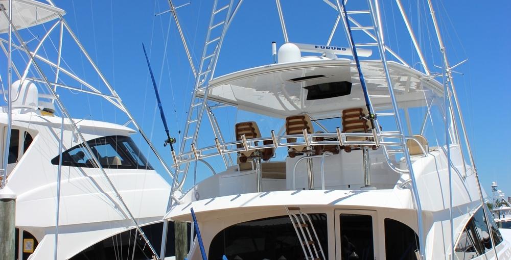 Atlantic Marine Electronics Viking 72 Demo Yacht close up